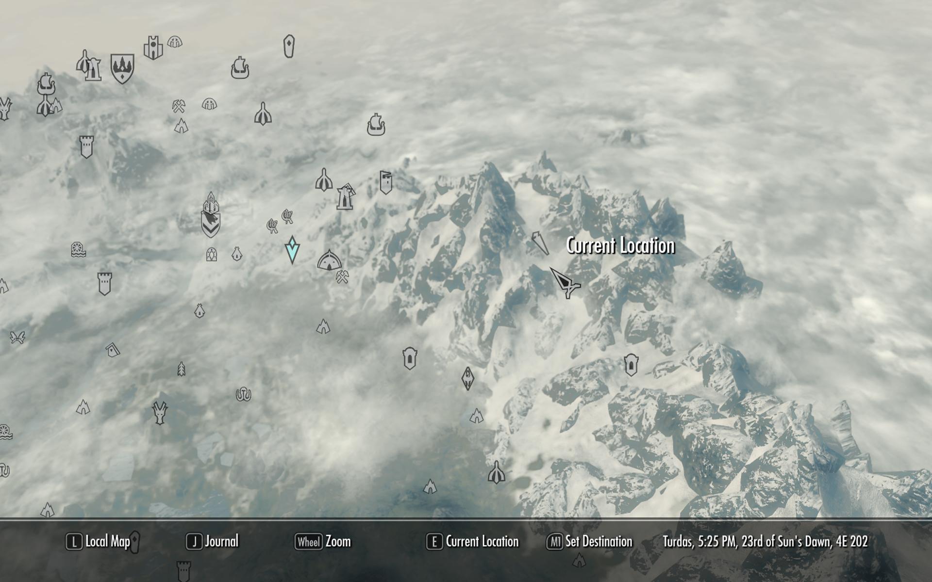 My Walk Around The Edge Of Skyrim V Skyrim